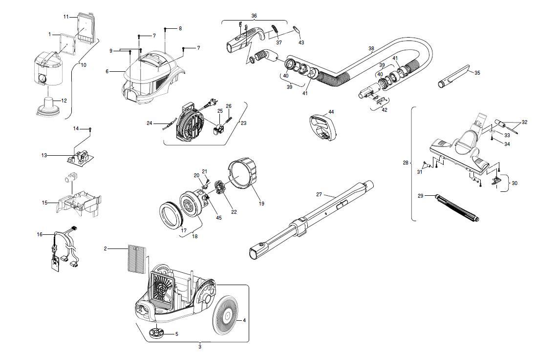Схема сборки двигателя пылесоса самсунг
